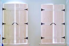 diy farmhouse style indoor shutters, diy, rustic furniture, … - Home Decor Interior Window Shutters, Diy Shutters, Indoor Window Shutters, Bedroom Shutters, Cedar Shutters, Window Blinds, Farmhouse Shutters, Farmhouse Windows, Farmhouse Headboards
