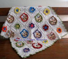 Made to Order Newborn OWL & Flowers baby crocheted by MingazovArt