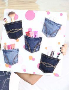 Alte Jeans verwerten - Was Neues kann man basteln?
