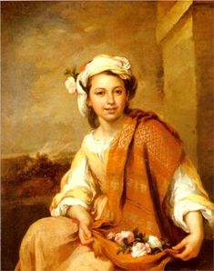The Flower Girl, Bartolome Esteban Murillo, 1665-1670, Oil on canvas, 121.3 cm x 98.7 cm, housed at the Dulwich Picture Gallery, London, UK.