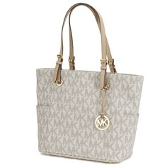 a3778f7e382173 Shop for Michael Kors Jet Set Travel Large East/West Vanilla Tote Bag. Get  free delivery at Overstock - Your Online Handbags Outlet Store!