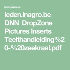 leden.inagro.be DNN_DropZone Pictures Inserts Teelthandleiding%20-%20zeekraal.pdf