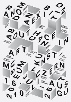 Poster, Typography, Random, poster designed by Felix Pfäffli (2010), 3D type