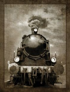 "Steam Engine Locomotive by GI Art Lab Trains Vintage Poster High Quality Poster 14""x 25"" Cloth\24""x 43"" Plastic Cloth(China (Mainland))"