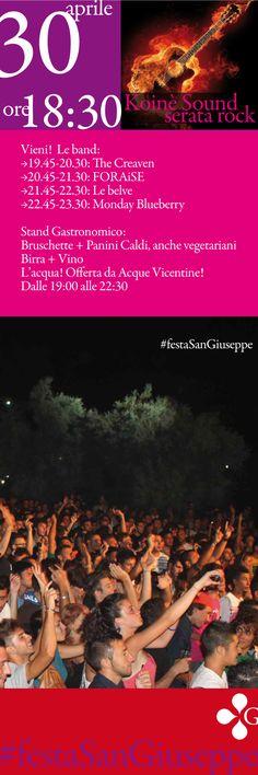 Anche il Rock - Koinè Sound - alla #festaSanGiuseppe di Vicenza. E tu c'eri? https://www.facebook.com/profile.php?id=100009317781363