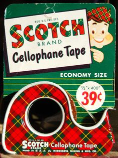Old, cool or both? http://labelszoo.co.uk can help with any labeling requirements you have Scotch Tape