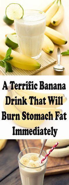 A Terrific Banana Drink That Will Burn Stomach Fat Immediately – Let's Tallk