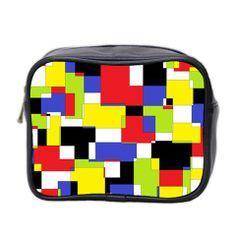 Mod Geometric Mini Travel Toiletry Bag