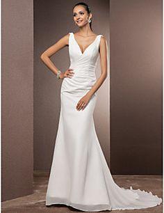 Lanting Bride® Trompette / Sirène Petites Tailles / Grandes Tailles Robe de Mariage - Classique & IntemporelDos ouvert / Tout Simplement