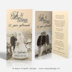 Verwonderlijk 50 jaar getrouwd 50 years of marriage anniversary www.meyndesign VZ-99