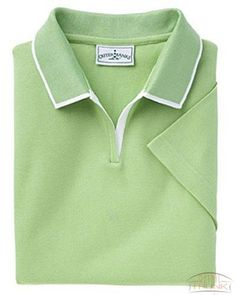 Outer Banks 6094 Ladies Egyptian Diamond Knit Polo Shirt with Tipping M XL 2XL Spring Green
