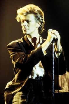 David Bowie, Glass Spider Tour press conference, 1987.