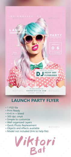 Launch Party Flyer - Clubs & Parties Events                                                                                                                                                                                 More