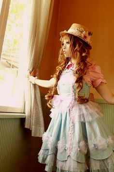 This was my first ever dream dress when I started lolita. I owned this exact colorway. Candy Fairy JSK from Angelic Pretty.