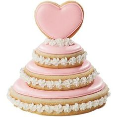 Wedding Cake Cookies Maybe take the top layer off and use for