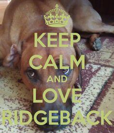 KEEP CALM AND LOVE RIDGEBACK