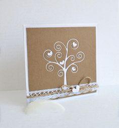 Svatební oznámení white tree