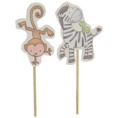 Baby Safari Baby Shower Cupcake Picks
