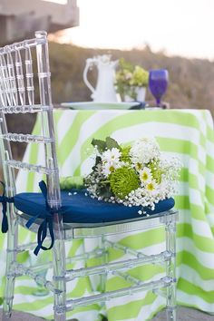 Something Blue: Wedding Inspired Beach Wedding Tables, Wedding Chairs, Blue Silver Weddings, Ghost Chairs, Something Blue Wedding, Fantasy Wedding, Wedding Coordinator, Here Comes The Bride, Wedding Bells