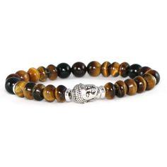 Men's Buddha Bracelet Tiger Eye Buddha by LarisJewelryDesigns