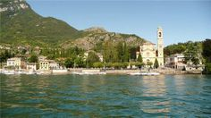 View to the Como Lake, Tremezzo, Lombardy, Italy.