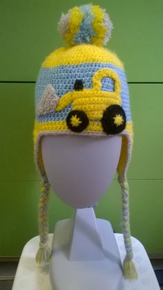 Crochet winter hat for boys