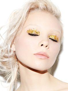 gold glitter eyeshadow #makeup