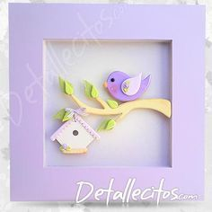 Bird on a tree branch Polymer Clay Animals, Cute Polymer Clay, Fimo Clay, Polymer Clay Creations, Wood Crafts, Fun Crafts, Paper Crafts, Clay Figures, Clay Charms