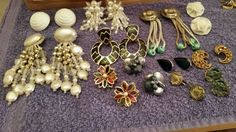 VTG LOT 12 PAIRS CLIP ON EARRINGS in Jewelry & Watches | eBay