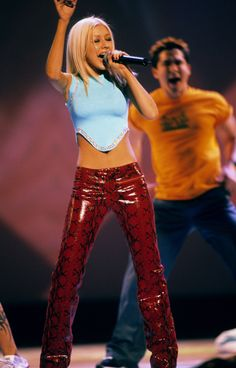 """Why Christina Aguilera's """"Dirrty"""" Style Still Makes an Impact Today - Christina Aguilera Birthday Style - Christina Aguilera Burlesque, Christina Aguilera Costume, Look Fashion, 90s Fashion, Vintage Fashion, Fashion Outfits, 2000s Fashion Trends, Early 2000s Fashion, Crop Tops"""