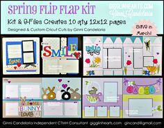 Easter is just around the corner & this spring paper is PERFECT for all your fun pictures. Kit includes everything PRE-Cut and sorted into page protectors, shipping to you and an extra Thank you from me! LIMITED Edition & Exclusive products to Close To My Heart & cricut cuts to Ginni Candelaria. #gigglinhearts, #ctmh, #iheartus, #Easter, #scrapbooking, #smile, #bunny, #eggs, #flowers, #closetomyheart, #fence, #cricut Cricut, Easter, Cool Pictures, Paper Crafts, Scrapbook, Page Protectors, Kit, Close To My Heart, Page Layout