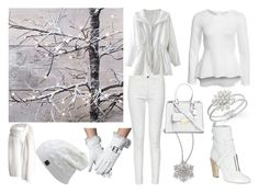 """""""White Winter"""" by annabellechristinewren ❤ liked on Polyvore featuring Adriana Orsini, Charter Club, Fendi, French Connection, NLY Trend and Michael Kors"""
