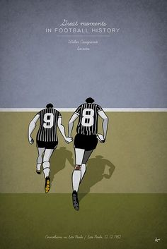 great moments in Football History Illustration Series Walter Casagrande Socrates 1982 sao paolo corinthinians