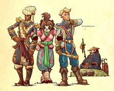lets drink,no war by *breathing2004 on deviantART LiLi mediating between Wrathion and Anduin. So cute!