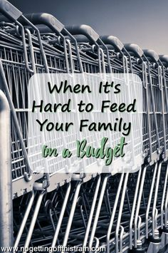 It's hard to figure out how to feed your family on a budget. Here are some tips and resources to help lower your budget and save money!