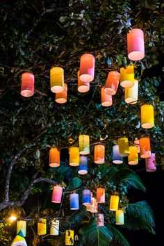 Summer Party Decorations: Hang lights or lanterns throughout the event space to brighten evening parties.