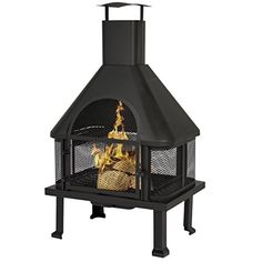 Best Choice Products is proud to present this brand new Firehouse with Chimney. This outdoor fireplace is a great add-on to your deck patio or poolside decor. It provides aesthetic beauty and functi...