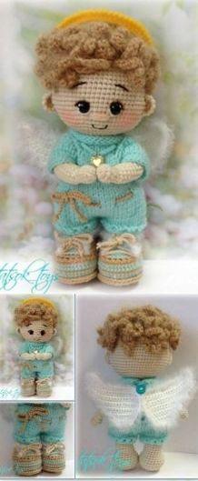 Crochet Monkey Pattern, Crochet Amigurumi Free Patterns, Knitting Patterns, Crochet Crafts, Crochet Toys, Crochet Baby, Free Crochet, Knitted Dolls, Amigurumi Doll