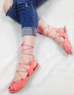 These boho chic lovelies are ultra comfortable! They feature skinny laces that connect the peep toe strap to the ankle and create an adorable lace up that ends tied in a sexy bow! - Colors Available: Bohemian Shoes, Hipster Shoes, Luxe Boutique, Fashion Shoes, Fashion Outfits, Ankle Strap Flats, Ballerina Flats, Cute Shoes, Boho Chic