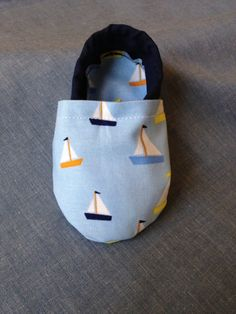 Sailboat Baby Boy Shoes with Navy Heel by BabyTBoutique on Etsy, $16.00