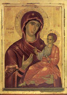 """Παναγία η Πάντων Χαρά – Ι.Μ. Παντοκράτορος-""""Εργο Θεοφάνους του Κρητός (1530-1540)"""