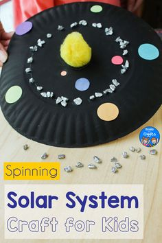 This paper plate solar system craft for kids can be a fun and easy school project for teaching about the relationship between the planets and the sun. Kids love that this interactive craft spins! Plus there's even an asteroid belt! #steam #booksandgiggles #solarsystem #kidscrafts Solar System Projects For Kids, Solar System Activities, Space Activities For Kids, Solar System Art, Space Crafts For Kids, Solar System Crafts, Preschool Science Activities, Solar Activity, Educational Activities For Kids