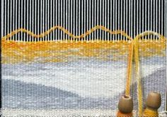 Learn how to blend color using multiple wefts - tapestry weaving with Elizabeth Buckley