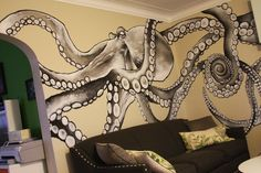 would be nuts to have an octopus mural in your home but i want one