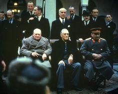 Churchill, Roosevelt und Stalin