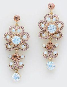 Gorgeous Earrings in Aspen Champagne