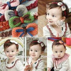 >> Click to Buy << Cheap Factory Price! Handmade Crochet Knit Bow Headband Hair Bow Band Headwear #Affiliate