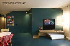 The charm of uneven walls. #decor #idea #color #creativity #casadevalentina