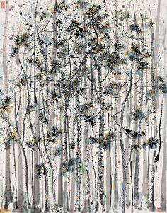 Wu Guanzhong 吴冠中 August 1919 – June a contemporary Chinese painter widely recognized as a founder of modern Chinese painting. Painting Gallery, Ink Painting, Art Gallery, Wu Guanzhong, Chinese Contemporary Art, Art Chinois, Art Asiatique, Chinese Landscape, Art Japonais