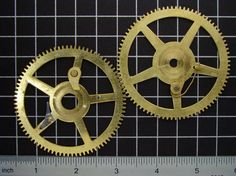 2 Large vintage brass gears antique clock by SteampunkArtSupplies